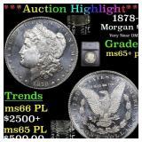*Highlight* 1878-s Morgan $1 Graded ms65+ pl