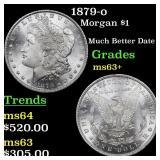 1879-o Morgan $1 Grades Select+ Unc