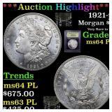 *Highlight* 1921-p Morgan $1 Graded Choice Unc PL