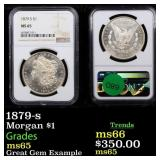 1879-s Morgan $1 Graded ms65