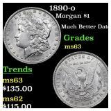 1890-o Morgan $1 Grades Select Unc