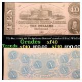 T-52 Dec. 2 1862 $10 Confederate States of America