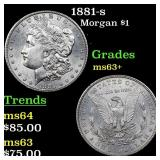 1881-s Morgan $1 Grades Select+ Unc