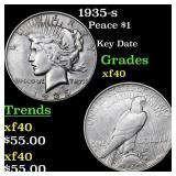 1935-s Peace $1 Grades xf