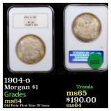 1904-o Morgan $1 Graded ms64