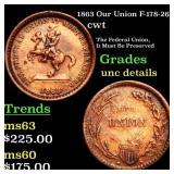 1863 Our Union F-178-267a cwt Grades Unc Details