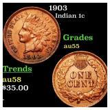 1903 Indian 1c Grades Choice AU