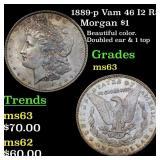 1889-p Vam 46 I2 R5 Morgan $1 Grades Select Unc