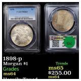 1898-p Morgan $1 Graded ms64
