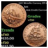 1837 Metallic Curency HT-22 htt Grades vf++