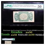 Third Issue 25c Fractional Currency FR-1294 SPNMB