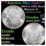 *Highlight* 1884-cc GSA Hoard Morgan $1 Graded ms6