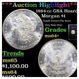 *Highlight* 1884-cc GSA Hoard Morgan $1 Grades Cho