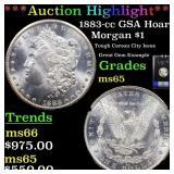 *Highlight* 1883-cc GSA Hoard Morgan $1 Graded ms6