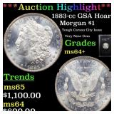 *Highlight* 1883-cc GSA Hoard Morgan $1 Grades Cho
