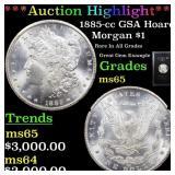 *Highlight* 1885-cc GSA Hoard Morgan $1 Grades GEM