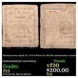 Pennsylvania April 25, 1776 6 Pence Fr. PA-199 con