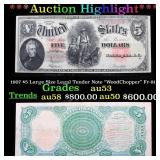 ***Auction Highlight*** 1907 $5 Large Size Legal T