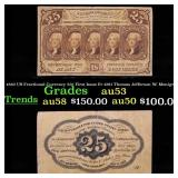 1862 US Fractional Currency 25¢ First Issue Fr-128