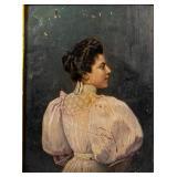 Oil on Board Portrait of a Lady Edwardian