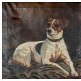 Oil on Canvas Portrait of a Dog