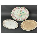 Lot of  3 19th Century China Platters