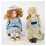 2 Bisque Head Dolls