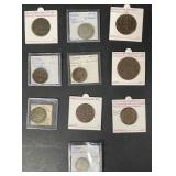 Lot of 10 Antique Swedish Coins