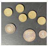 8 Silver Coins