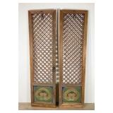 Pair of Thai Crosshatch Doors