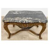 Ornately Carved Louis XV Style End Table