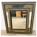Neoclassical Style Brass Hall Mirror