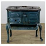 Enameled Parlor Cast Iron Stove