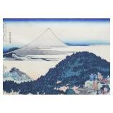 Hokusai Block Print Fuji From the Cushion Pine