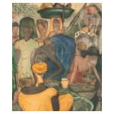 19th Century Congolese Market Scene Aquatint