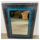 Contemporary Midnight Mosaic Mirror