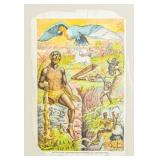 African Superstitions Illustrated Lithograph