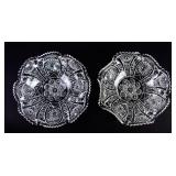 Pair of Pressed Glass Bowls
