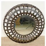 Rustic Circular Hall Mirror