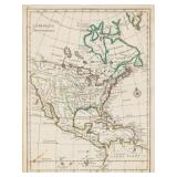 Map of North America 1756 Le Rouge