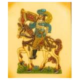 German Wax Relief of a Trumpeter