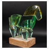 Modern Acrylic Horse Sculpture