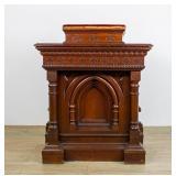 Carved Victorian Walnut Church Lectern