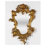 Rococo Style Gilt Metal Mirror