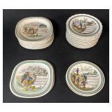 Lot of Porcelain Opera Saucers