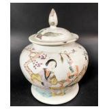 19th Century Chinese Fencai Lidded Vase