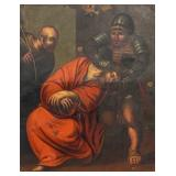 Oil on Tin Jesus with Crown of Thorns Ecce Homo