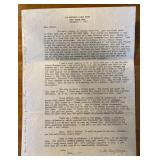 Letter from Molly Kazan after Kennedy was shot