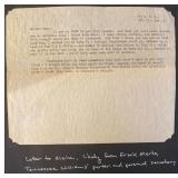 Letter to Elaine Attributed to Frank Merlo