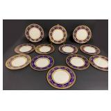12 Early Lenox Dinner Plates